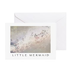 Little Mermaid - Foam Greeting Cards (Pk of 20)