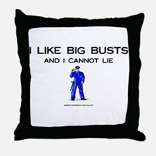 Cop Busts Throw Pillow