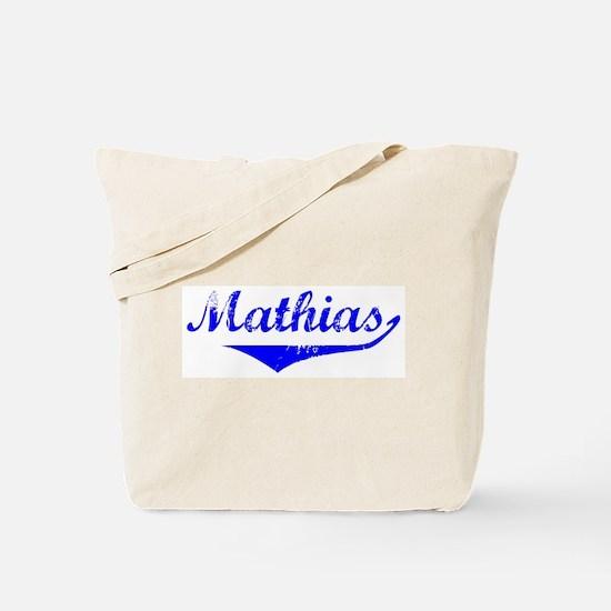 Mathias Vintage (Blue) Tote Bag
