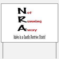 Funny Gun owner Yard Sign