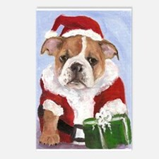 Cute Bulldog holiday Postcards (Package of 8)