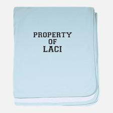 Property of LACI baby blanket
