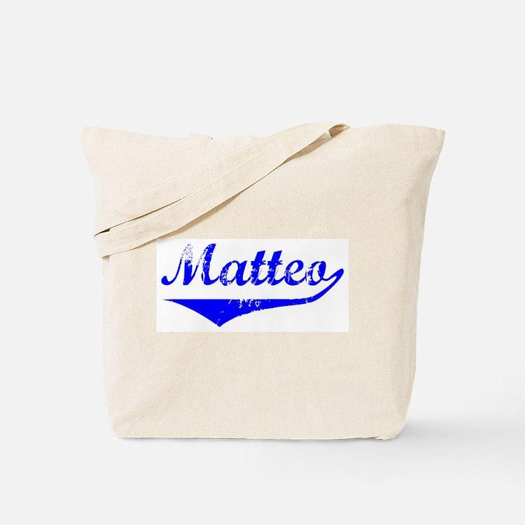 Matteo Vintage (Blue) Tote Bag