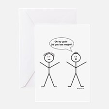 Stick Figure Weight Loss Greeting Card