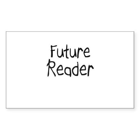 Future Reader Rectangle Sticker