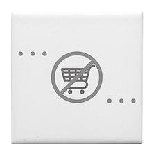 No Consumer Society Tile Coaster