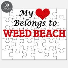 My Heart Belongs to Weed Beach Connecticut Puzzle