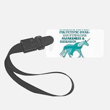 Unicorns Support Polycystic Ovar Luggage Tag