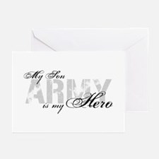 Son is my Hero ARMY Greeting Cards
