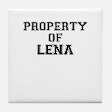 Property of LENA Tile Coaster