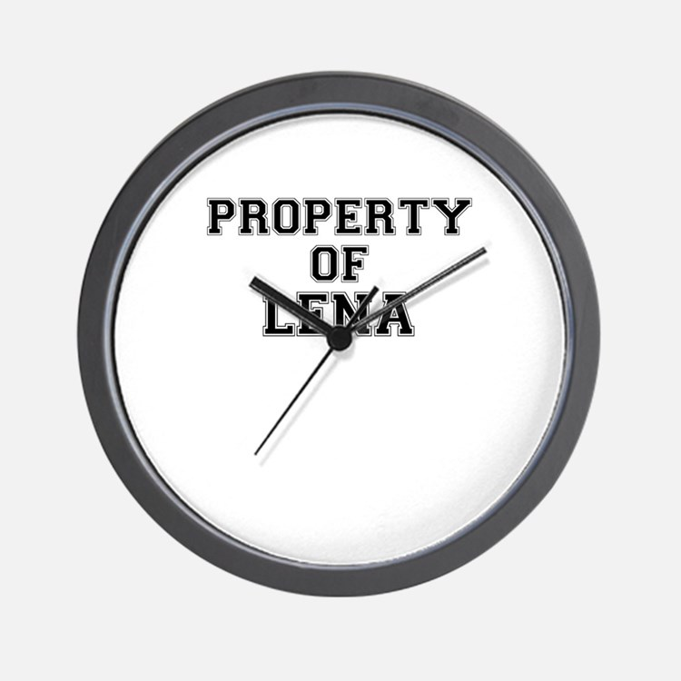 Property of LENA Wall Clock