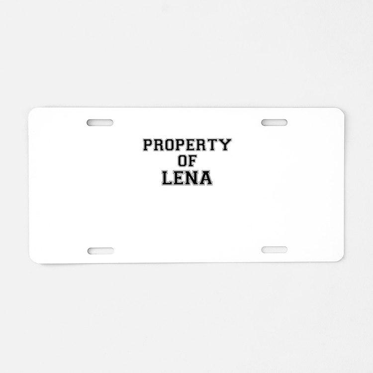 Property of LENA Aluminum License Plate