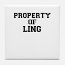 Property of LING Tile Coaster