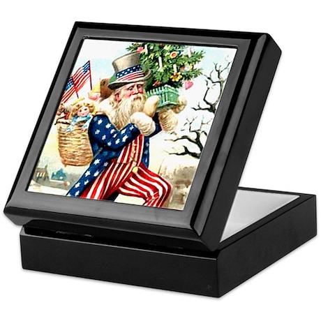 Santa Claus Uncle Sam Keepsake Box