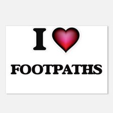 I love Footpaths Postcards (Package of 8)