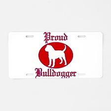 Proud Bulldogger Aluminum License Plate