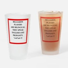 Billiards joke Drinking Glass