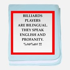 Billiards joke baby blanket