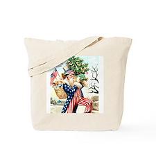 Christmas Uncle Sam Santa Claus Gift Tote Bag