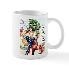Uncle Sam Santa Claus Coffee Mug
