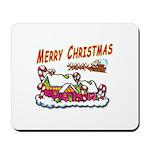 Santa and Candy Cane House Mousepad