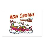 Santa and Candy Cane House Postcards (Package of 8