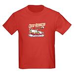 Santa and Candy Cane House Kids Dark T-Shirt