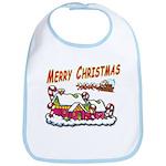 Santa and Candy Cane House Bib
