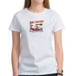 Santa and Candy Cane House Women's T-Shirt