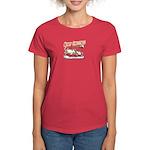 Santa and Candy Cane House Women's Dark T-Shirt
