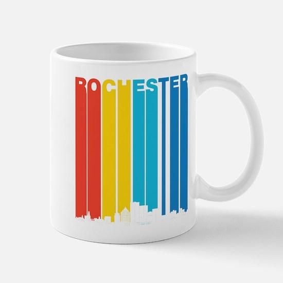 Retro Rochester New York Skyline Mugs