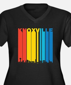 Retro Knoxville Tennessee Skyline Plus Size T-Shir