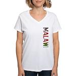 Malawi Stamp Women's V-Neck T-Shirt