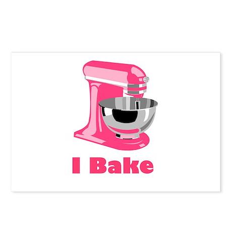 I Bake Pink Postcards (Package of 8)