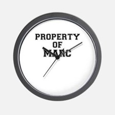 Property of MARC Wall Clock