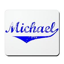 Michael Vintage (Blue) Mousepad