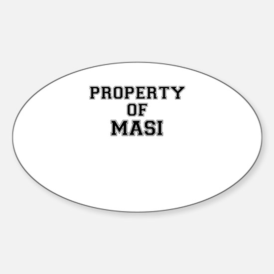 Property of MASI Decal