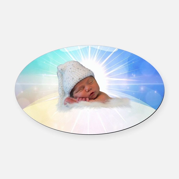 Cute Baby Oval Car Magnet