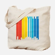 Retro Nashville Skyline Tote Bag