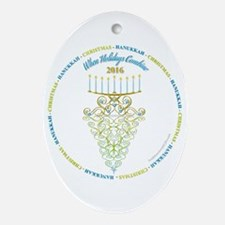 When Holidays Combine 2016 Circle Oval Ornament