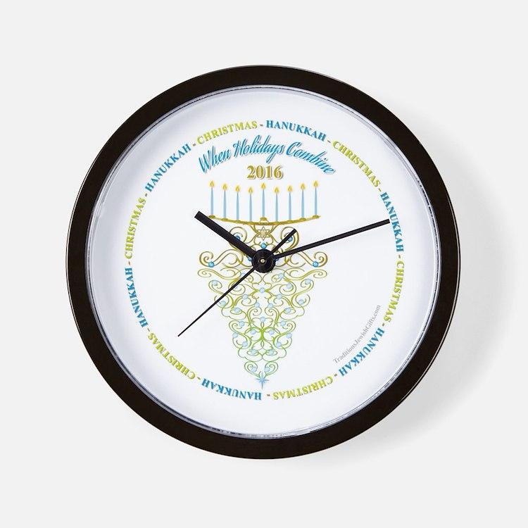 When Holidays Combine 2016 Circle Wall Clock