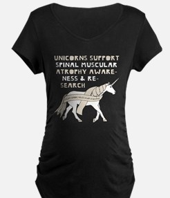 Unicorns Support Spinal Muscular Maternity T-Shirt