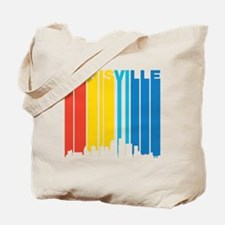 Retro Louisville Skyline Tote Bag