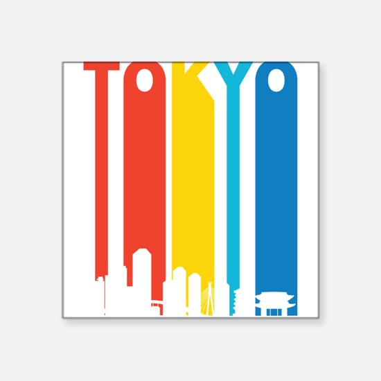 Retro Tokyo Skyline Sticker