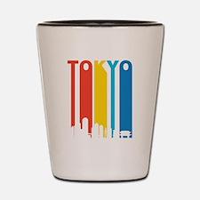 Retro Tokyo Skyline Shot Glass