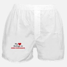 My Heart Belongs to Jones Town Beach Boxer Shorts