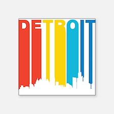 Retro Detroit Skyline Sticker