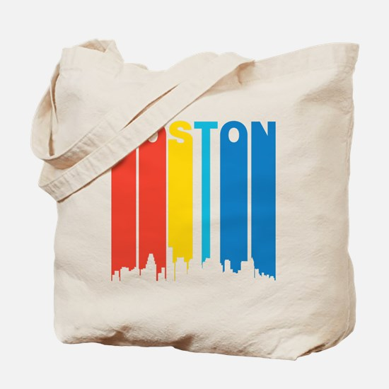 Retro Boston Skyline Tote Bag