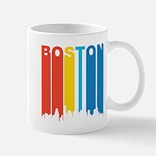 Retro Boston Skyline Mugs