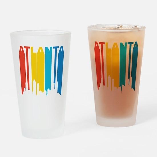 Retro Atlanta Skyline Drinking Glass